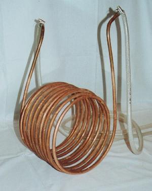 Kobberrør spiral